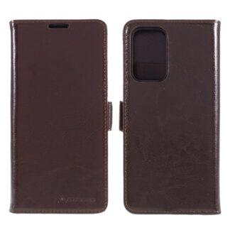 Samsung Galaxy A52 - AZMARO ægte læder cover / pung - Brun