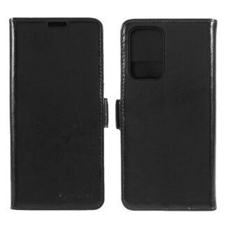 Samsung Galaxy A52 - AZMARO ægte læder cover / pung - Sort