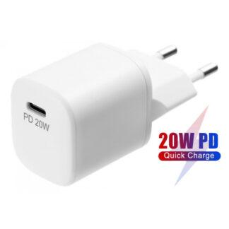 20W USB-C PD Fast Charge oplader, EU/DK