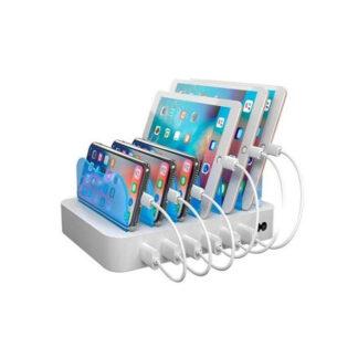 6-port USB ladestation, 5V/10A (50W), Smart-IQ, EU/DK stik