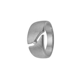 Aagaard sølv ring med zir - 1800-S-S01 Sølv m/cz 56