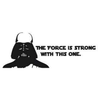 Darth Vader citat. Sej Star Wars wallsticker. Sort/Hvid.