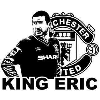 King Eric. Sej Eric Cantona wallsticker. 42x52cm