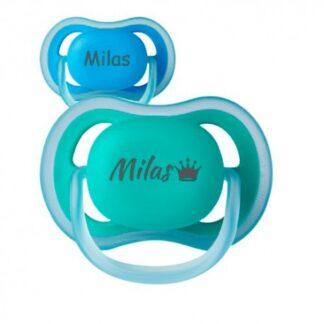 Philips Avent Ultra Air, Str. 2 (6-18 Mdr.) , Symmetrisk - Silikone, Sutter Med Navn