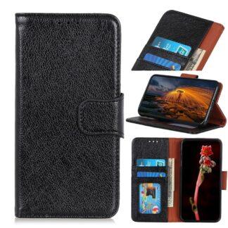 Samsung Galaxy A70 - Ægte læder cover / pung - Sort