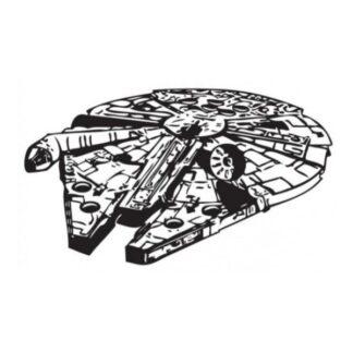 Star Wars wallsticker. Tusindårsfalken. Sort/Hvid. 57x88cm