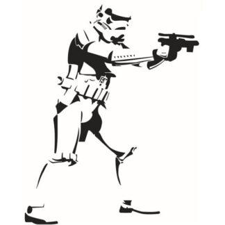 Stormtrooper wallsticker. Flot Star Wars wallsticker. 46x58cm