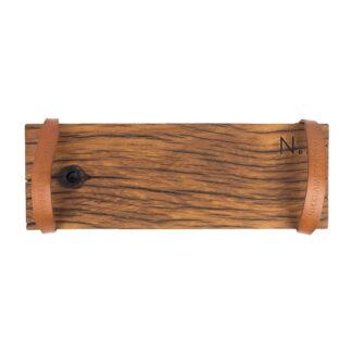 The.Board S - Autentisk serveringsbakke - Træ & Bøffellæder - 50 x 17.5