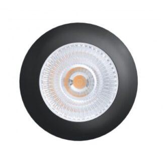 LEDlife Unni68 møbelspot - Hul: Ø5,6 cm, Mål: Ø6,8 cm, RA95, sort, 12V - Dæmpbar : Dæmpbar, Kulør : Varm